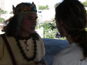 """Santeiro e Leonardo, ensaio para gravação do filme """"não existem profetas"""", 2009"""